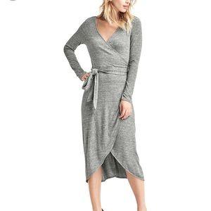Gap Softspun Knit Wrap Dress